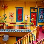 Color is certainly not lacking in our hostel