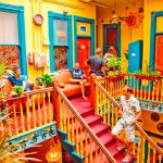 Our colorful hostel dates from 1880 and is in the center of the Gaslamp District of San Diego