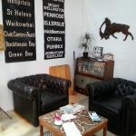 Cute retro lounge corner in the cafe