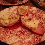 Pork lion with holoumi and tomato starter x