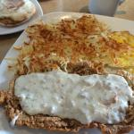Country fried steak and eggs- nothing special!