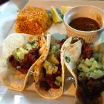 Tacos al pastor- great flavor, small serving