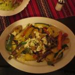 Very tasty vegetable dish with feta