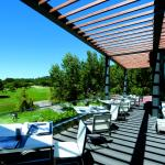 Beautiful Golf course view from the terrace of Arola restaurant