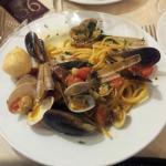 """Les fameuses """"linguine"""" aux fruits de mer"""