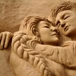 Lovers in sand