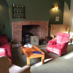 coffee and cake by the roaring log fire in the lounge