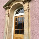 very impressive front door - which could have been approached by carriage until 1603