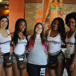 Myself with four waitresses