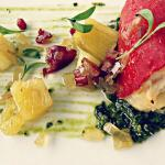 smokey crab stuffed piquillo peppers/tasso vinaigrette/pickled pineapple/chimichurri