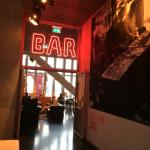 Entrance of the bar.... Don't miss the virtual fireplace at the left !!!
