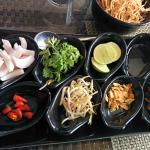 condiment platter for khou suey