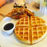 real home style chicken and waffles