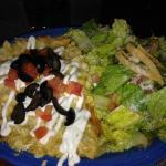 Enchilada Casserole and side salad