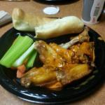 Buffalo wings bone in med sauce.