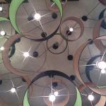 La composizione di lampadari..