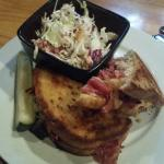 Reuben with cole slaw