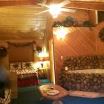 Cozy...ohh soo COZY. If only you could see the tall ceiling and huge Alpine windows!