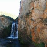 One of the upper waterfalls on the trail