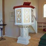 A simple Pulpit in a simple church