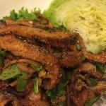 Sai Jai salad with pork
