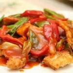 Sweet and sour cod fillet