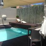 The pool & sun deck outside