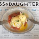 benny eggs benedict with Nova Salmon