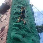 Climbing Wall @ D-Mall is good for kids
