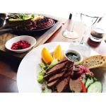 Beef salad and Mixed plate