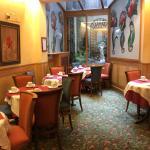 The quaint dining area