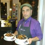 Fabio (the owner with some of our dishes)