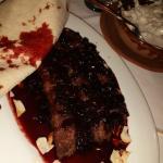 Kafta with cherry & cherry molasses