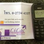 Free phone to call the hotel for pick up service at Kat Labrang station