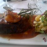 Beef Short Rib, slow braised in Tomato and Rosemary with crushed Baby Potatoes - delicious