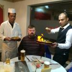 Manager abdul and head chef with some lovely customers :D