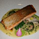 Sea trout with mussel and caviar sauce