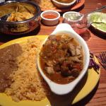 Pollo Ranchero, with a side of guacamole....Delicious!