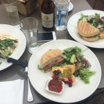 Staff more than happy to cut our delicious burger and tart in half so we could share �� + a wond