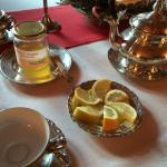 Tea and honey upon request