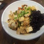 the vegetable bowl with black rice