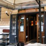 La entrada al restaurante vista desde la terraza.