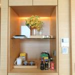 small snack n tea set in room