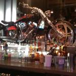 Motorcycle at the bar