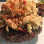 Sirloin with crab