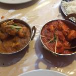 Chicken curry and Chicken Madras
