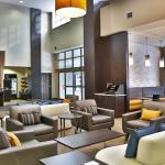 Bright and spacious hotel lobby