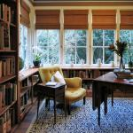 Cozy library adjacent to the main living room.