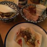 Pork, Reuben Bao and Duck Taco