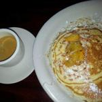 Cuban coffee with pineapple pancakes